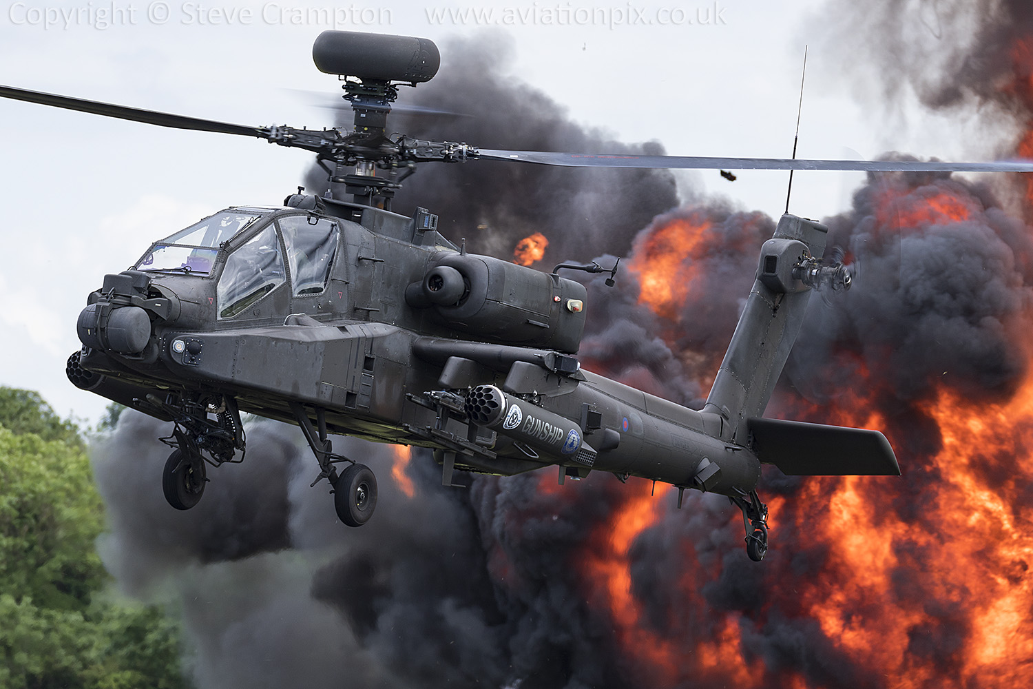 Attack Helicopter Display Team AH-64 Apache